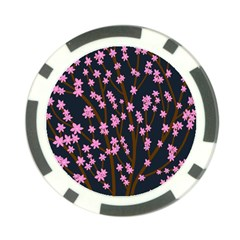 Japanese tree  Poker Chip Card Guards