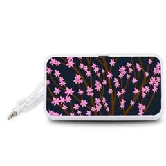 Japanese tree  Portable Speaker (White)