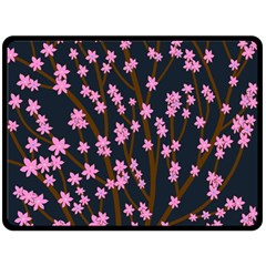 Japanese tree  Double Sided Fleece Blanket (Large)