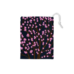 Japanese tree  Drawstring Pouches (Small)