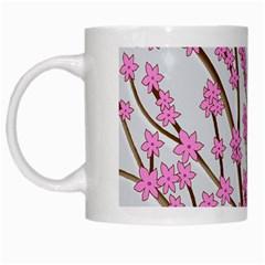 Cherry tree White Mugs