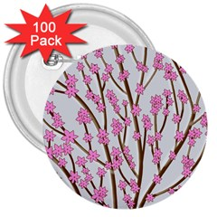 Cherry tree 3  Buttons (100 pack)
