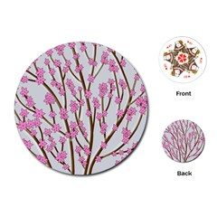 Cherry tree Playing Cards (Round)