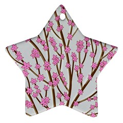 Cherry tree Star Ornament (Two Sides)