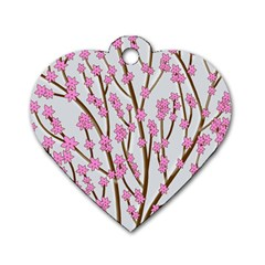 Cherry tree Dog Tag Heart (One Side)