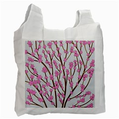 Cherry tree Recycle Bag (One Side)