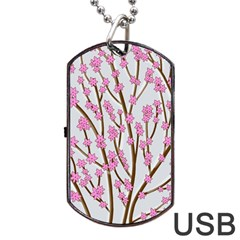 Cherry tree Dog Tag USB Flash (One Side)