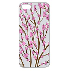 Cherry tree Apple Seamless iPhone 5 Case (Clear)