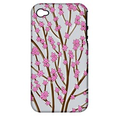 Cherry tree Apple iPhone 4/4S Hardshell Case (PC+Silicone)