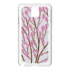 Cherry tree Samsung Galaxy Note 3 N9005 Case (White)