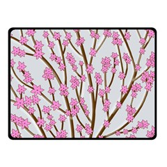 Cherry tree Double Sided Fleece Blanket (Small)