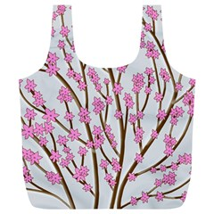 Cherry tree Full Print Recycle Bags (L)