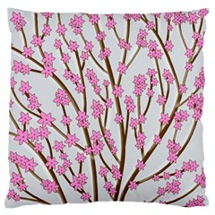 Cherry tree Large Flano Cushion Case (Two Sides)