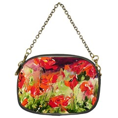 Abstract Poppys  Chain Purses (one Side)