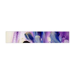 Purple Abstract Print  Flano Scarf (mini)