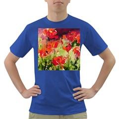 abstact poppys art print Dark T-Shirt