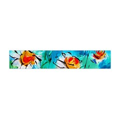 Abstract daisys floral print  Flano Scarf (Mini)