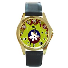 Big bang Round Gold Metal Watch