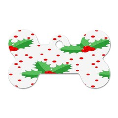 Christmas Decoration Pattern Dog Tag Bone (Two Sides)
