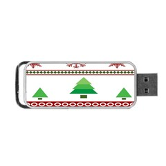 Christmas Trees And Snowflakes Portable USB Flash (Two Sides)