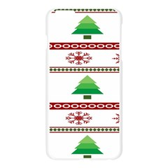 Christmas Trees And Snowflakes Apple Seamless iPhone 6 Plus/6S Plus Case (Transparent)