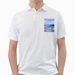 abstract purple art prints Golf Shirts