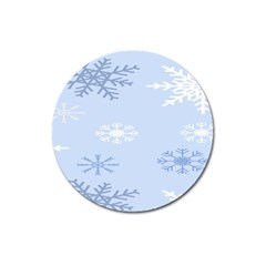 Snowflakes Pattern Magnet 3  (Round)