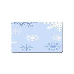 Snowflakes Pattern Magnet (Name Card)