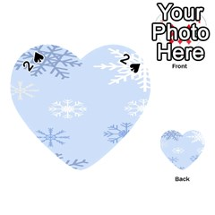 Snowflakes Pattern Playing Cards 54 (Heart)