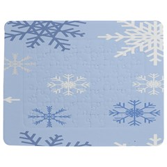 Snowflakes Pattern Jigsaw Puzzle Photo Stand (Rectangular)
