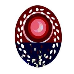Techno  Oval Filigree Ornament (2-Side)