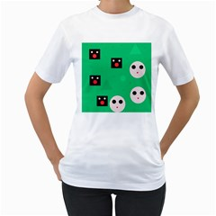 Audience  Women s T-Shirt (White) (Two Sided)