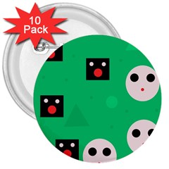 Audience  3  Buttons (10 pack)