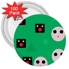 Audience  3  Buttons (100 pack)