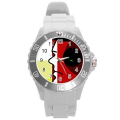 Secret Round Plastic Sport Watch (L)