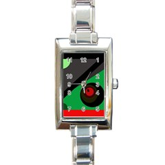 Billiard  Rectangle Italian Charm Watch