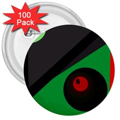 Billiard  3  Buttons (100 pack)