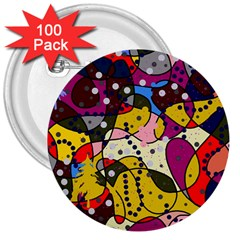 New Year 3  Buttons (100 pack)