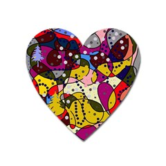 New Year Heart Magnet