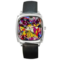 New Year Square Metal Watch
