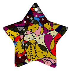 New Year Star Ornament (Two Sides)