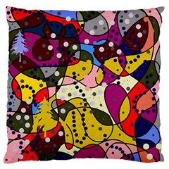 New Year Large Flano Cushion Case (Two Sides)