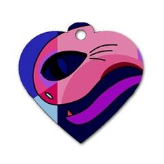 Strange love Dog Tag Heart (One Side)