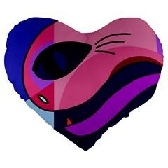 Strange love Large 19  Premium Heart Shape Cushions