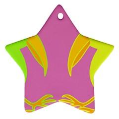 Parrots Ornament (Star)