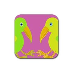 Parrots Rubber Coaster (Square)