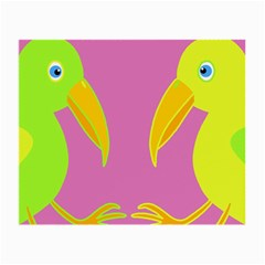 Parrots Small Glasses Cloth (2-Side)