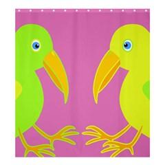 Parrots Shower Curtain 66  x 72  (Large)