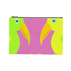 Parrots Cosmetic Bag (Large)