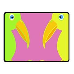 Parrots Fleece Blanket (Small)
